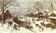 Lucas Van Valkenborch Winter oil painting reproduction