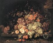 Fruit Still-Life with Squirrel and Goldfinch g, MIGNON, Abraham