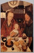 MOSTAERT, Jan The Holy Family at Table ag oil painting