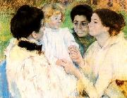 Women Admiring a Child