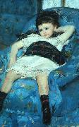 Mary Cassatt Little Girl in a Blue Armchair oil painting on canvas