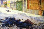 Maximilien Luce A Paris Street in May 1871(The Commune) oil painting