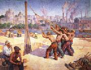 Maximilien Luce The Pile Drivers oil painting