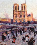 Maximilien Luce The Quai Saint-Michel and Notre-Dame oil painting