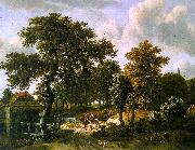 Meindert Hobbema The Travelers oil painting reproduction