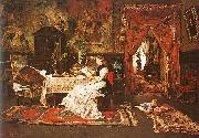 Mihaly Munkacsy Paris Interior oil painting reproduction