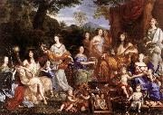 NOCRET, Jean The Family of Louis XIV a oil painting
