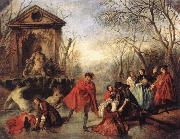 Nicolas Lancret Winter oil painting reproduction