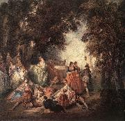 Nicolas Lancret Company in Park oil painting