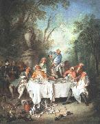 Nicolas Lancret Luncheon Party oil painting reproduction