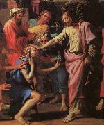Nicolas Poussin Jesus Healing the Blind of Jericho oil painting
