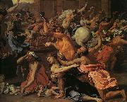 Nicolas Poussin The Rape of the Sabine Women oil painting