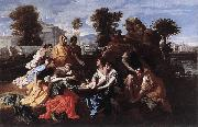 Nicolas Poussin Finding of Moses oil painting reproduction