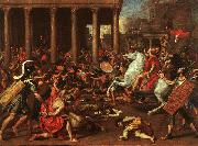 Nicolas Poussin The Conquest of Jerusalem oil painting