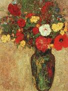 Vase with Flowers, Odilon Redon