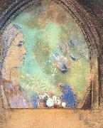 Profile in an Arch, Odilon Redon