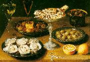 Osias Beert Still Life with Oysters and Pastries USA oil painting reproduction