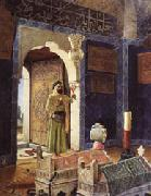 Osman Hamdy Bey Old Man before Children's Tombs oil painting