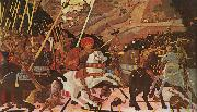 Paolo Ucello Niccolo Mauruzi da Tolentino at The Battle of San Romano oil painting