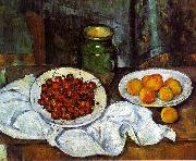 Cherries and Peaches, Paul Cezanne