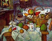 Paul Cezanne Vessels, Basket and Fruit USA oil painting reproduction