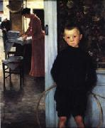 Woman and Child in an Interior