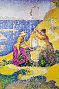 Paul Signac Women at the Well oil painting