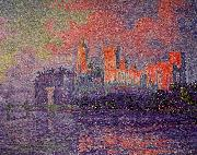 Paul Signac The Papal Palace, Avignon oil painting