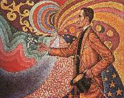 Paul Signac Portrait of M.Felix Feneon in 1890 oil painting