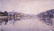 Paul Signac River's Edge The Seine at Herblay oil painting reproduction