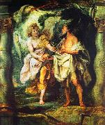 Peter Paul Rubens The Prophet Elijah Receiving Bread and Water from an Angel oil painting