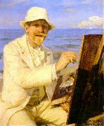 Peter Severin Kroyer Self Portrait  2222 oil painting