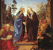 The Visitation and Two Saints