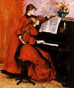 Pierre Renoir Two Young Girls at the Piano oil painting reproduction
