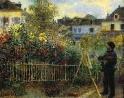 Pierre Renoir Monet Painting in his Garden oil painting on canvas