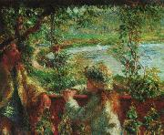Pierre Renoir Near the Lake oil painting