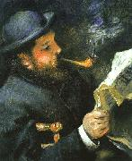 Claude Monet Reading, Pierre Renoir
