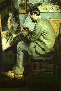 Bazille at his Easel, Pierre Renoir