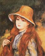 Girl and Golden Hat, Pierre Renoir