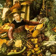 Pieter Aertsen Market Woman  with Vegetable Stall USA oil painting reproduction