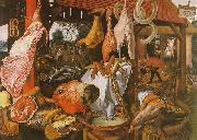 Pieter Aertsen  Butcher's Stall with the Flight into Egypt USA oil painting reproduction