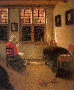 Pieter Janssens Elinga Woman Reading_l oil painting