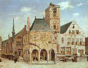 Pieter Jansz Saenredam The Old Town Hall in Amsterdam oil painting