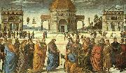 Christ Delivering the Keys to St.Peter, Pietro Perugino