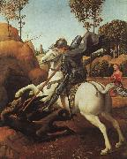 Raphael St.George and the Dragon oil painting artist