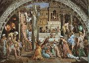 Raphael The Fire in the Borgo oil painting