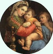 Raphael THE MADONNA OF THE CHAIR or Madonna della Sedia oil painting artist