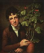 Rembrandt Peale Rubens Peale with Geranium oil painting
