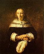 Portrait of a Lady with an Ostrich Feather Fan, Rembrandt