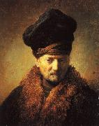 Bust of an Old Man in a Fur Cap, Rembrandt